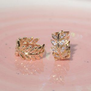 NEW~ Anthropologie Athena mini Hoop Earrings Gold